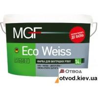 Интерьерная акриловая краска матовая МГФ (MGF) Eco Weiss М1 1,4 кг