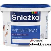 Интерьерная акриловая краска матовая Снежка (Sniezka) White Effect, 14 кг