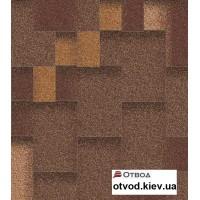 Гибкая черепица АКВАИЗОЛ (AQUAIZOL) Акцент Горячий шоколад 3 кв.м.