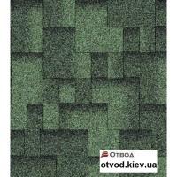 Гибкая черепица АКВАИЗОЛ (AQUAIZOL) Акцент Зеленая ЭКО 3 кв.м.