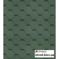 Гибкая черепица Технониколь (TECHNONICOL) Кадриль Нефрит 3 кв.м.