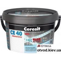 Эластичный цветной шов Церезит (Ceresit) СЕ-40 графитовый, 2 кг